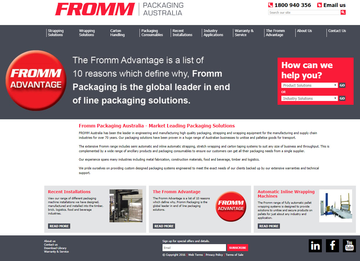 Fromm home page